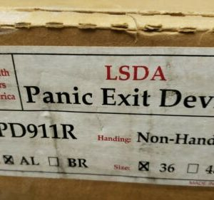 """Buy LOCKSMITH DEALERS OF AMERICA LSDA PANIC EXIT DEVICE NON HANDED PD911R 36"""" AL"""