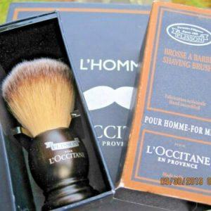 Buy L'Occitane Cade for Men Plisson Shaving Shave Brush + Stand, Beech, NEW IN BOX