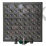 """Buy Large Chess Board Game Set with 100% Brass Chess Pieces for adults 14X14"""" board"""