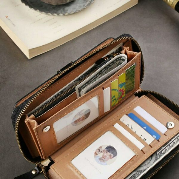Buy Leather Bag cover Case For iPhone 8 6 7 PLUS X/XS Samsung S9 S7 S8 below 6.3inch