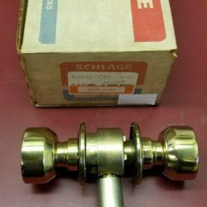 Buy Locksmith Schlage D10 crown 610 brass finish Passage Lock heavy duty grade 1
