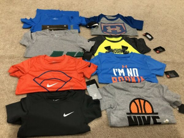 Buy Lot Of Boys New Nike & Under Armour Shirts-size 5