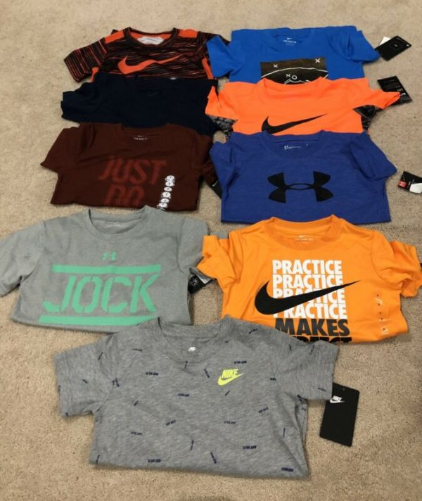 Buy Lot Of Boys New Nike & Under Armour Shirts-size 7