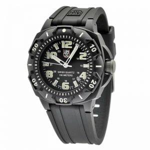 Buy Luminox Men's Watch Sentry 0200 Series Black Silicone Rubber Strap 0201.SL