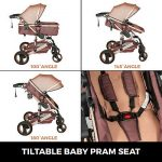Buy Luxury Baby Stroller 3 In 1 Pushchair Foldable Buggy Infant Travel With Car Seat