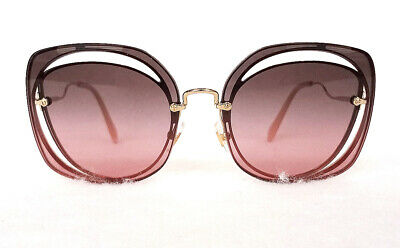 Buy MIU MIU Women's Sunglasses MU54SS ZVN146 145 Gold Metal MADE IN ITALY - New!