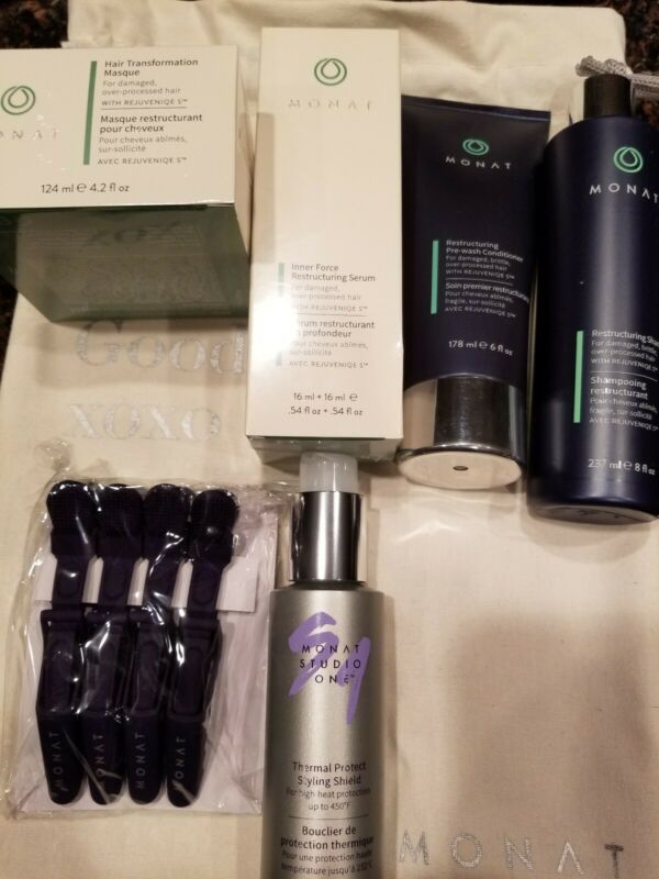 Buy MONAT Restructuring Hair Care Collection +THERMAL PROTECT + CLIPS 6 Pcs NEW