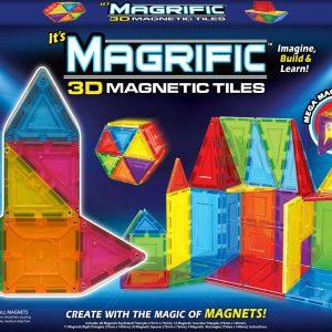 Buy Magrific 100 Piece Multi-color Magnetic Tiles Set
