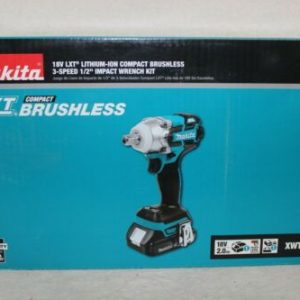 "Buy Makita 18V LXT Compact Brushless 3 Sped 1/2"" Impact Wrench Kit XWT11SR1"