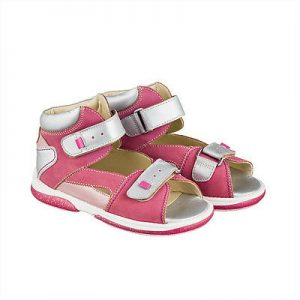 Buy Memo Monaco 3JD Orthopedic Leather Arch Support Gray Pink Sandals Toddler/L.Girl