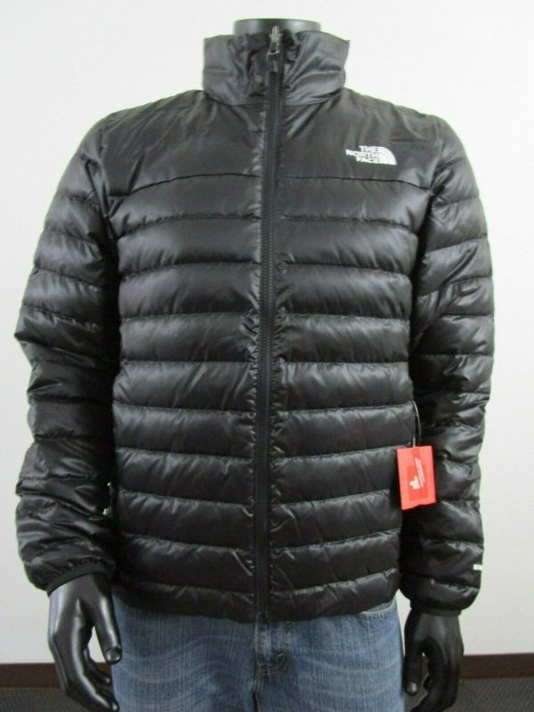 Buy Mens TNF The North Face Flare 550-Down Insulated FZ Puffer Jacket - Black White