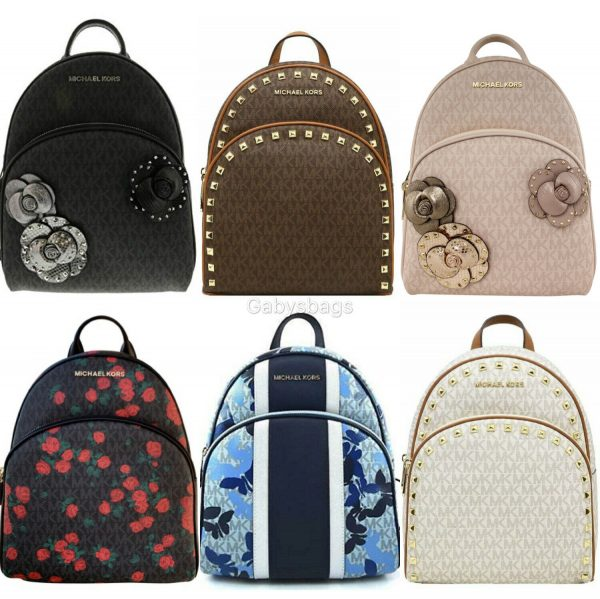 Buy Michael Kors Abbey Medium Backpack MK Signature Floral Pink Blue Black Butterfly