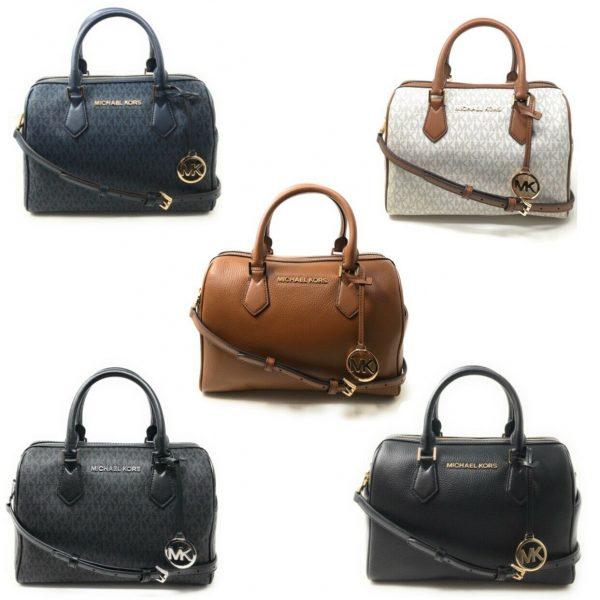 Buy Michael Kors Bedford Large Duffle Satchel Handbag Purse Crossbody Leather