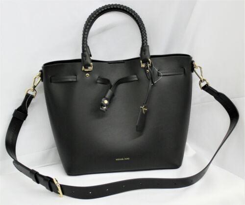 Buy Michael Kors Blakely MD Black Leather Bucket Bag