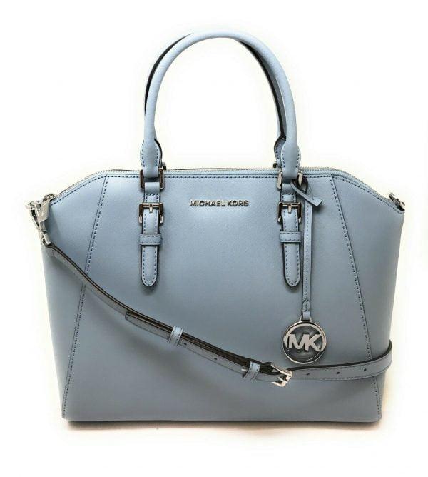 Buy Michael Kors Ciara Large Top Zip Saffiano Leather Satchel Crossbody Bag
