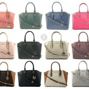 Buy Michael Kors Ciara Saffiano Leather Large Top Zip Satchel Handbag