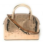 Buy Michael Kors Emmy Large Dome Satchel Leather Handbag Crossbody Purse