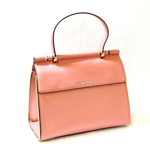Buy Michael Kors Jasmine MD Leather  Top Handle Satchel Rose