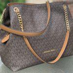 Buy Michael Kors Jet Set Chain Messenger MK Signature Brown LARGE Tote Shoulder Bag