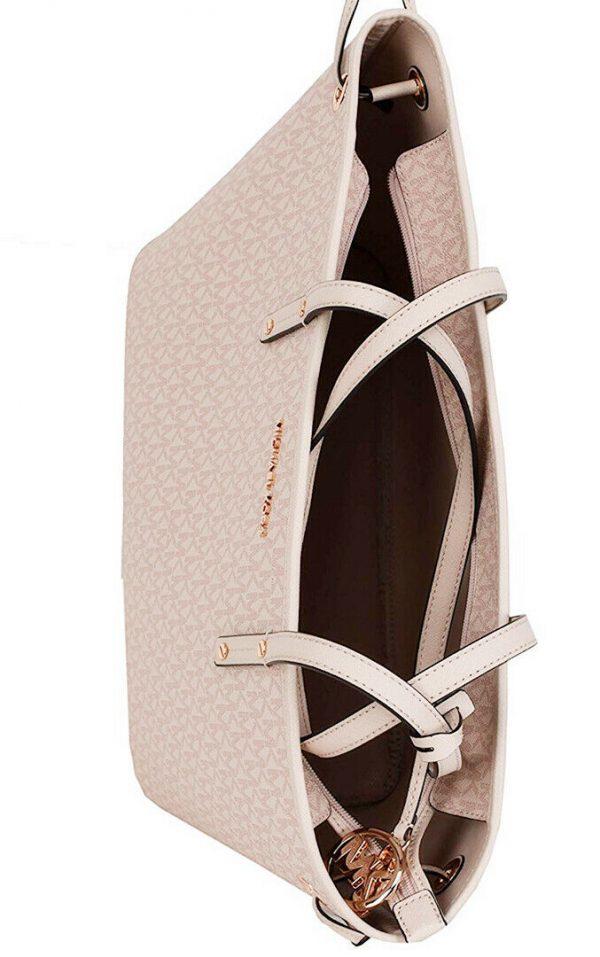 Buy Michael Kors Jet Set Travel Large Drawstring Tote MK Signature Ballet Vanilla
