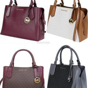 Buy Michael Kors Kimberly Large East West Satchel Brown Merlot Vanilla Black Rose
