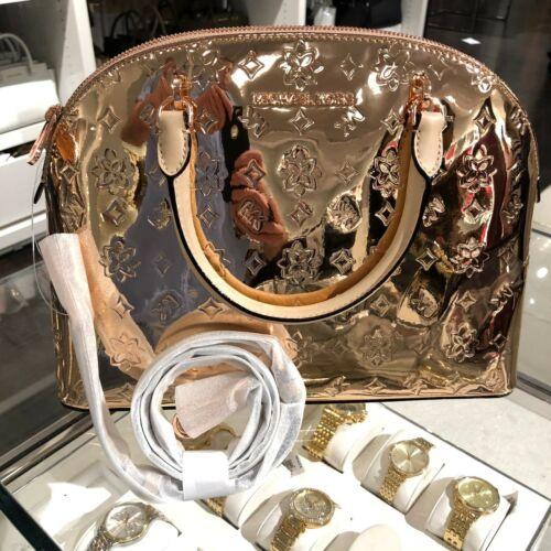 Buy Michael Kors Medium Large PVC Leather Satchel Crossbody Bag Handbag Rose Gold MK