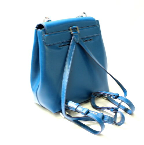 Buy Michael Kors Mott Chain Backpack MD Leather Luxe Teal