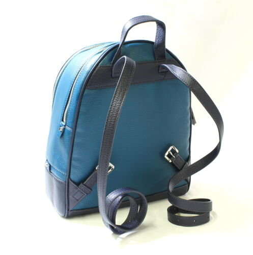 Buy Michael Kors Rhea Zip Backpack MD Leather LuxeTeal/Admrl