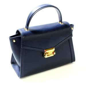 Buy Michael Kors Whitney MD Top Handle Leather Satchel Admiral