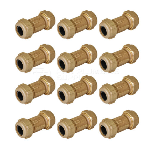 Buy Midline Valve Compression Coupling Fitting, with Packing Nut, Brass, 3 in. Long