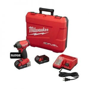 Buy Milwaukee Impact Driver Compact Kit 1/4 Inch Hex 18V Cordless 2 Battery Case NEW