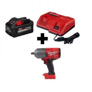 Buy Milwaukee M18 FUEL Impact Wrench 1/2 in. Brushless Super Charger 8.0 Ah Battery