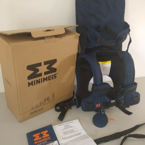 Buy MiniMeis child carrier-Blue- NEW in Box. Great for 6 months to 40 lbs!