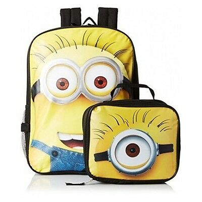 Buy Minions Despicable Me 2 Backpack Lunch Bag Box Tote School Book Bag Boys Girls
