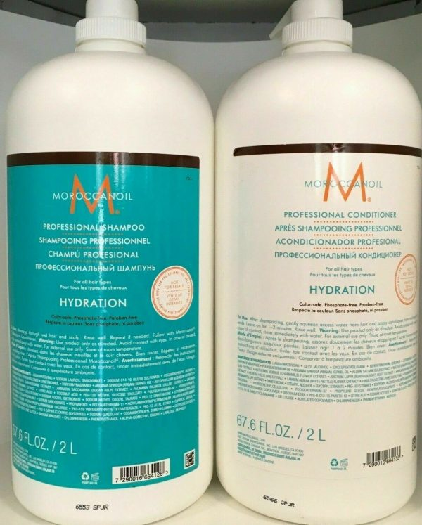 Buy Moroccanoil Hydrating Shampoo & Conditioner 67.6oz Professional Size Duo Set