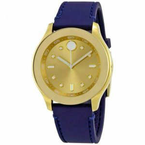 Buy Movado 3600413 Women's Bold Swiss Quartz Gold Dial Strap Watch