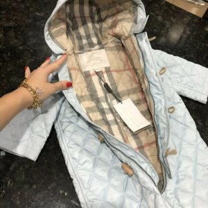 Buy NEW 9-12 Months Authentic Burberry Baby Boys Snowsuit Swaddle Jacket Coverall