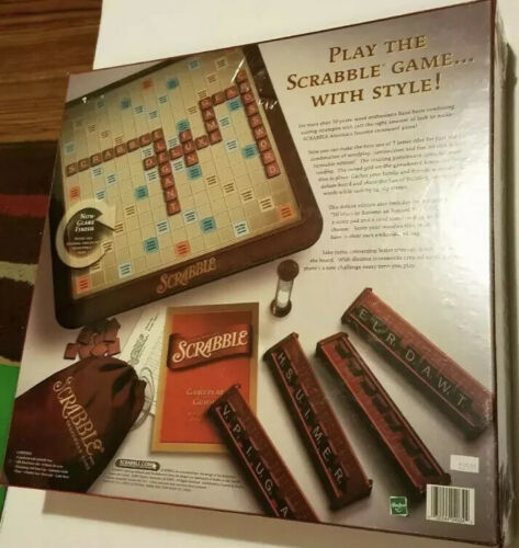 Buy NEW Factory sealed Scrabble DELUXE TURNTABLE Edition Hasbro Parker Brothers 2001