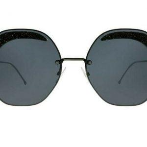 Buy NEW Fendi Sunglasses Women Geometric Gray And Black