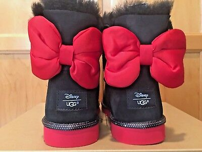 Buy NEW GIRL AUTHENTIC UGG DISNEY MINNIE MOUSE SWEETIE BOW BLACK SUEDE BOOTS SIZE 5