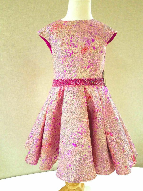 Buy NEW Halabaloo Pink Galaxy Sparkly Belt Stunning Girls Holiday Party Dress 8