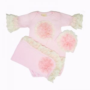 Buy NEW! Haute Baby Pink Lullabye Boutique Take-me-Home Set (gown, cap, blanket)