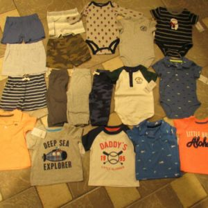 Buy NEW LOT/18 CARTER'S BABY BOY CLOTHING SHORTS SHIRTS ROMPERS+ 6M  FREE SHIP