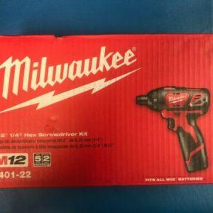 Buy NEW MILWAUKEE 2401-22 M12 1/4 HEX SCREWDRIVER KIT