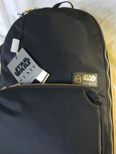 Buy NEW NWT STATE Bags Star Wars C3P0 Luxe Lorimer Backpack Black
