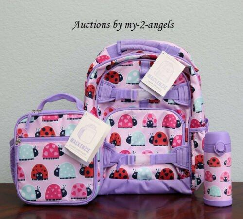 Buy NEW Pottery Barn Kids 3-Pc LADYBUG Large Backpack + Lunch Box Bag + Water Bottle