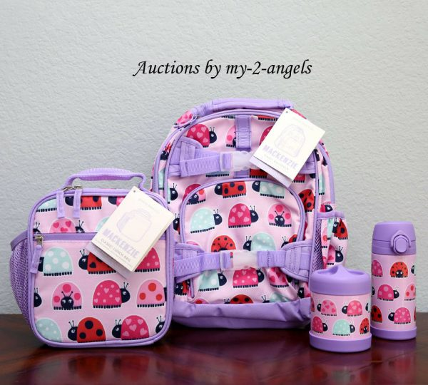 Buy NEW Pottery Barn Kids 4-pc LADYBUG Small Backpack Lunch Bag Water Bottle Thermos