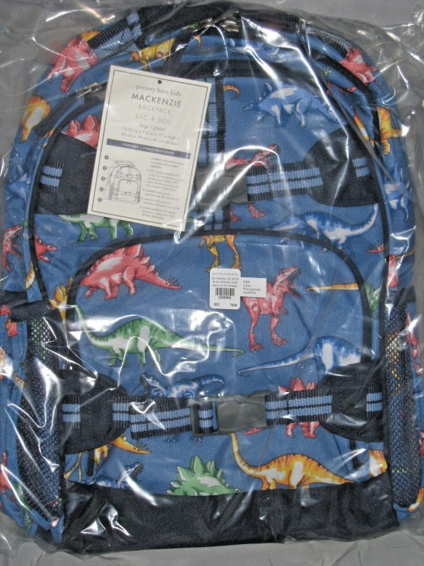 Buy NEW Pottery Barn Kids LARGE Dinosaur Backpack + RETRO LUNCH BAG ! LAST ONE!