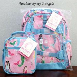 Buy NEW Pottery Barn Kids Mackenzie PINK MERMAID Large Backpack + Classic Lunch Bag