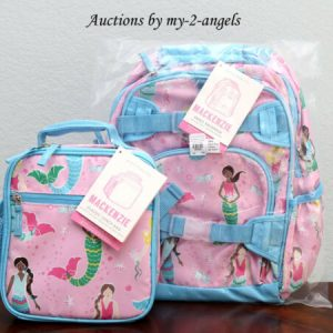 Buy NEW Pottery Barn Kids Mackenzie PINK MERMAID Small Backpack + Classic Lunch Bag
